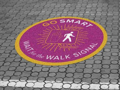 Outdoor Sidewalk Floor Graphics