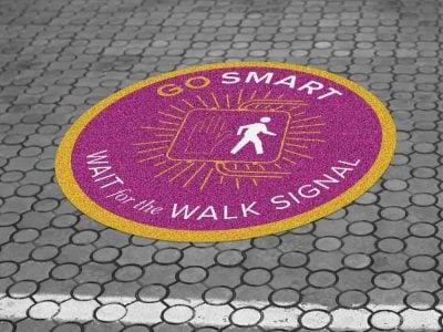 Outdoor Sidewalk Floor Graphics