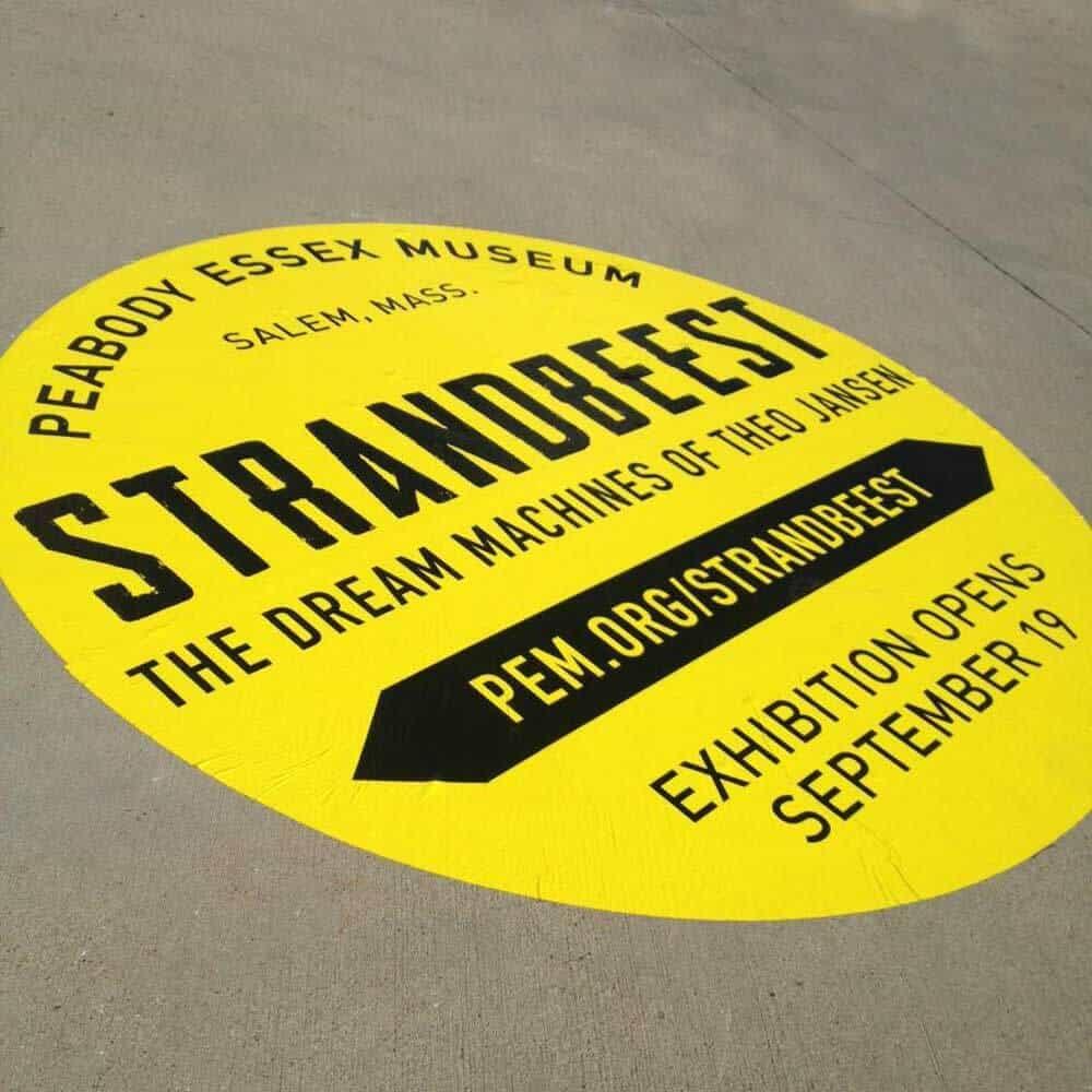 Outdoor Sidewalk Sticker On Concrete
