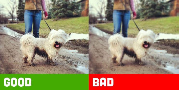 Good and Bad Image Pixelation