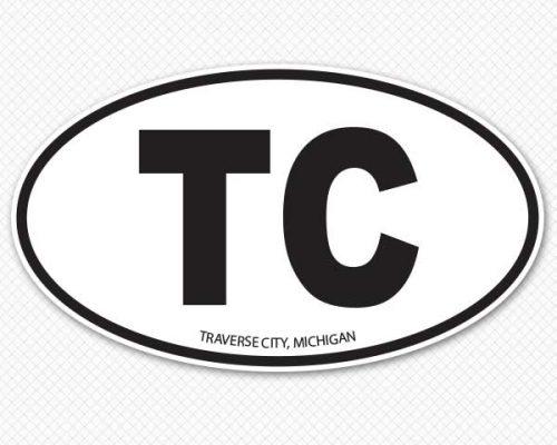 add your abbreviation oval car sticker