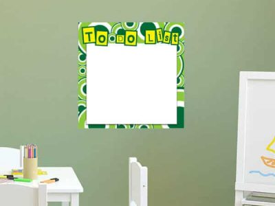 Retro Circle Dry Erase Wall