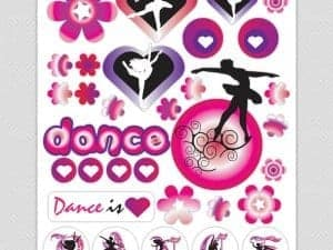 Dance Theme Wall Stickers