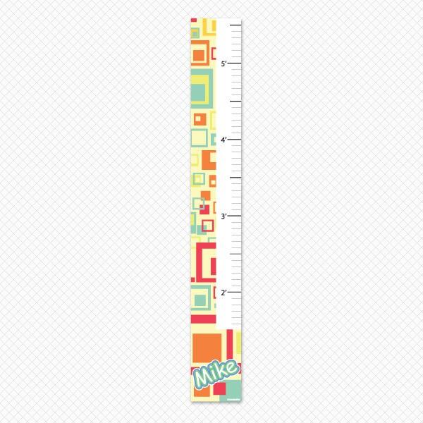 Artsy Squares Growth Chart Print