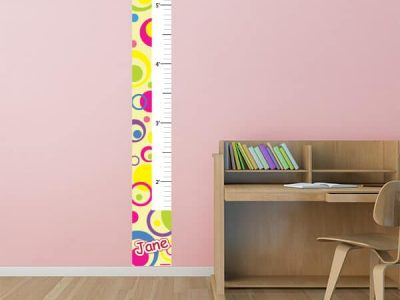 Bright Circles Growth Chart Sticker