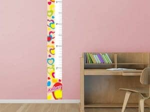 Bright Hearts Restickable Growth Chart