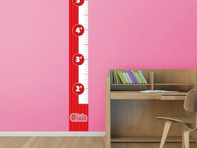 Bubble Gum Removable Growth Chart