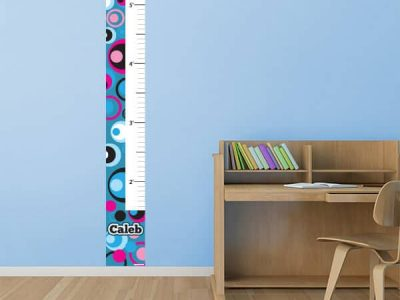 Groovy Circles Removable Growth Chart