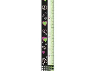 Hearts and Flowers Restickable Growth Charts