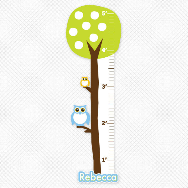 Printed Owl Tree Growth Chart