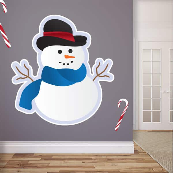 Large Size Snowman Wall Graphic