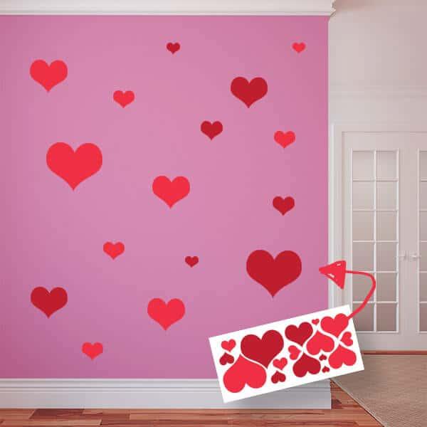 Restickable Hearts Sheet