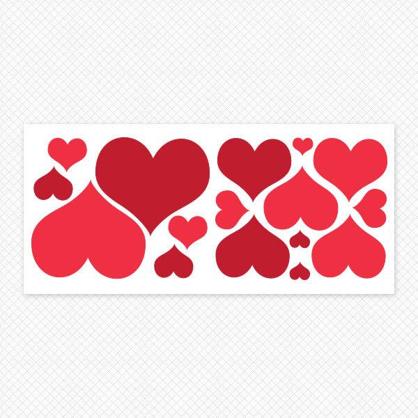 Printed Restickable Hearts Sheet