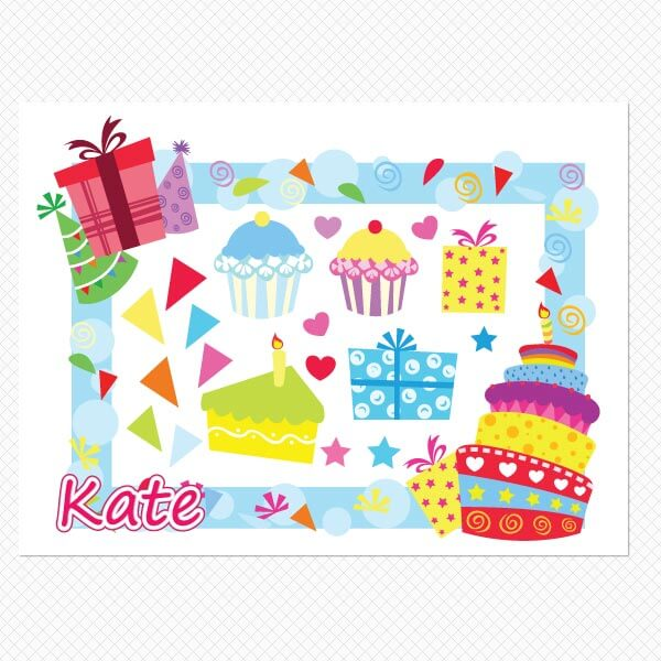 Printed sheet Personalized Birthday Frame