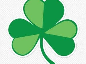 Printed Shamrock Wall Graphic
