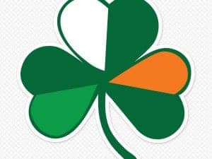 Irish Flag Shamrock Wall Graphic
