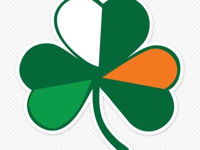 Irish Flag Shamrock Wall Graphic