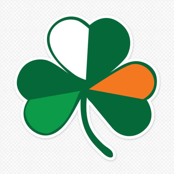 Irish Flag Shamrock Sticker Sticker Genius