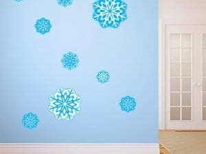Restickable Blue Snowflakes