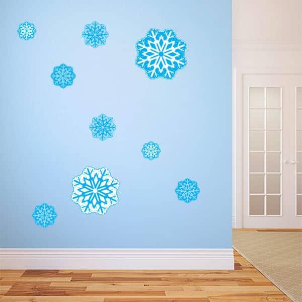 Restickable Blue Snowflakes