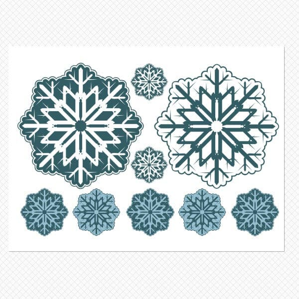 Removable Window Snowflakes