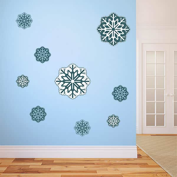 snowflake wall decals snowflake window decals. Black Bedroom Furniture Sets. Home Design Ideas