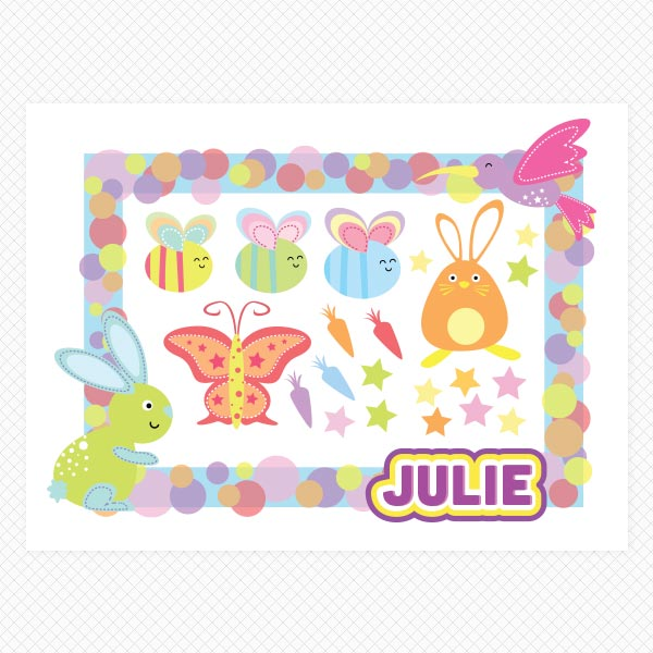 Printed Personalized Sticker Frame
