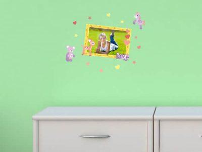 Cute Critters Theme Sticker Frame