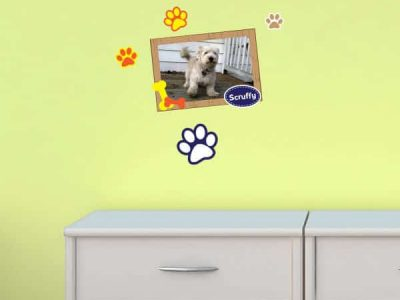 Paws Dog Restickable Sticker Frame