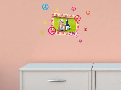 Peace Signs Photo Sticker Frame