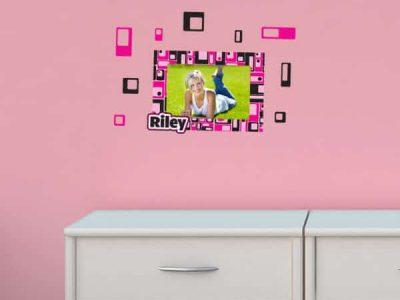 Retro Squares Sticker Frame
