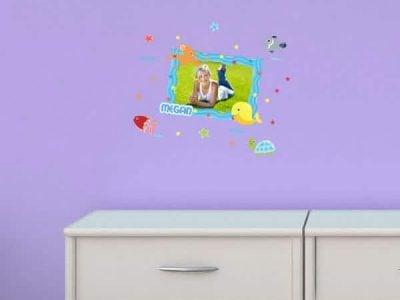 Turtle Time Theme Sticker Frame