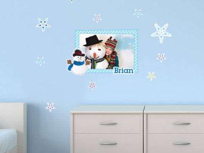 Winter Theme Sticker Photo Frame