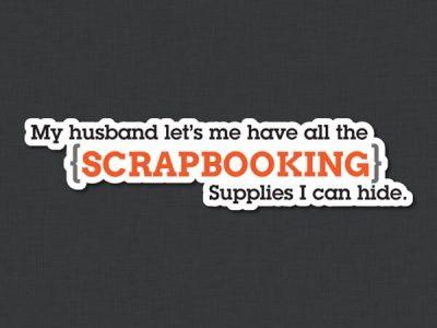 Scrapbooking 1 Contour Quote Sticker