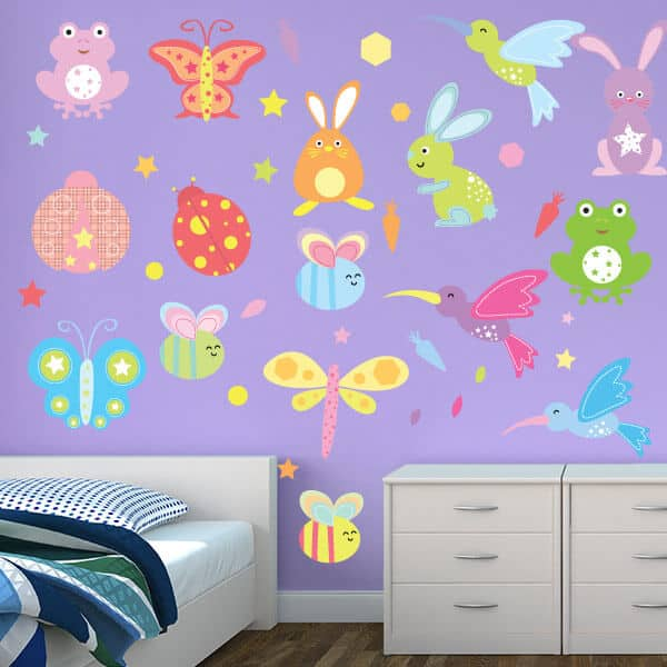 Beautiful Bugs Room Theme Stickers