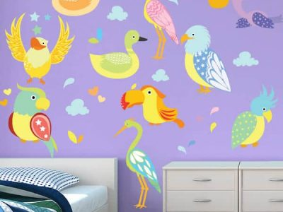 Bird Boulevard Room Decor Stickers