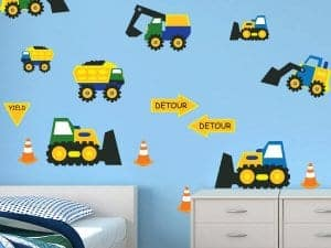 Construction Cone Zone Boys Wall Decor