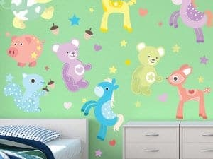 Cute Critters Reusable Wall Decor