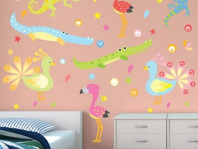 Flamingos and Friends Wall Decor
