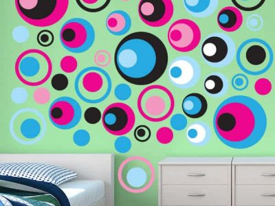 Groovy Circles Wall Graphics