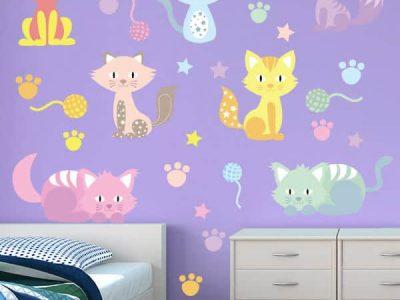 Krazy Kitties Restickable Wall Decor