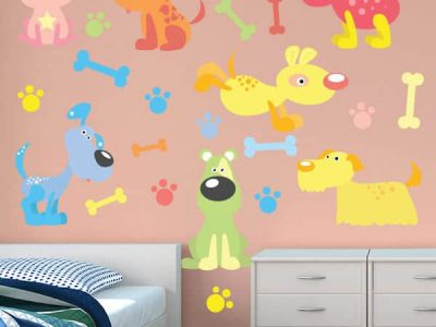 Puppy Power Wall Decor Removable Stickers