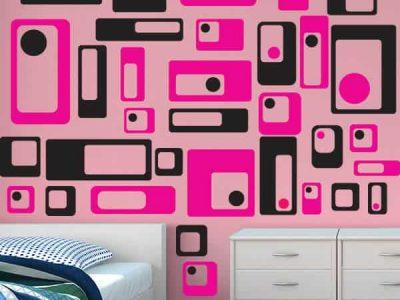 Retro Squares Wall Decor