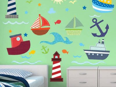 Sail the Stickle Seas Wall Stickers