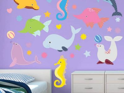 Seahorse Surprise Reusable Wall Stickers