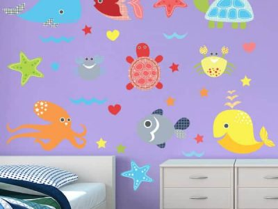 Turtle Time Reusable Wall Decor Stickers