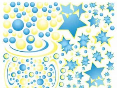 Bubbles and Stars Wall Graphics