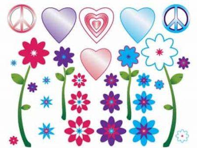Flower Power Restickable Wall Decor