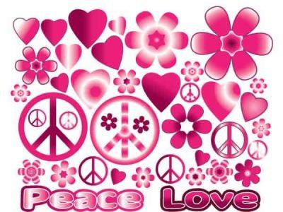 Hearts & Flowers Groovy 1 Wall Decor