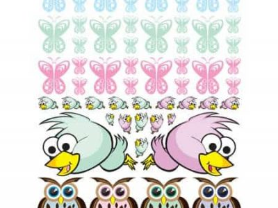 Owls, Birds and Butterfly Wall Decor